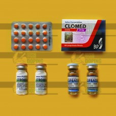 Курс на сушку в уколах Винстрол и тестостерон Пропионат